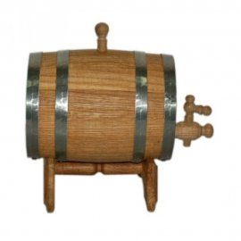 Дубовая бочка для вина и коньяка на 10 л